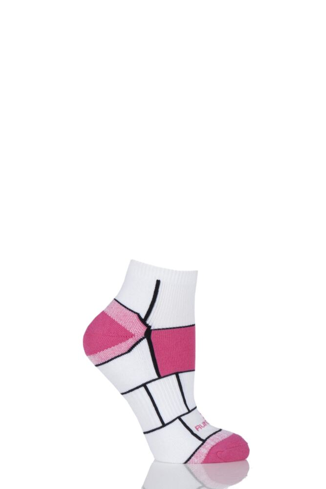 Ladies 1 Pair RunBreeze Ergonomic Anti-Blister Ankle Socks With CoolMax