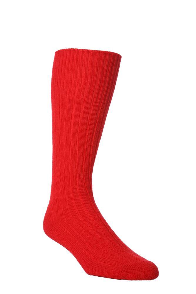 Mens 1 Pair J. Alex Swift Wool Rib Cushioned Boot Socks
