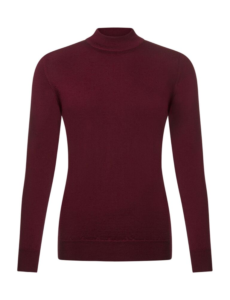 Ladies Great & British Knitwear 100% Merino Mock Turtle Neck Jumper