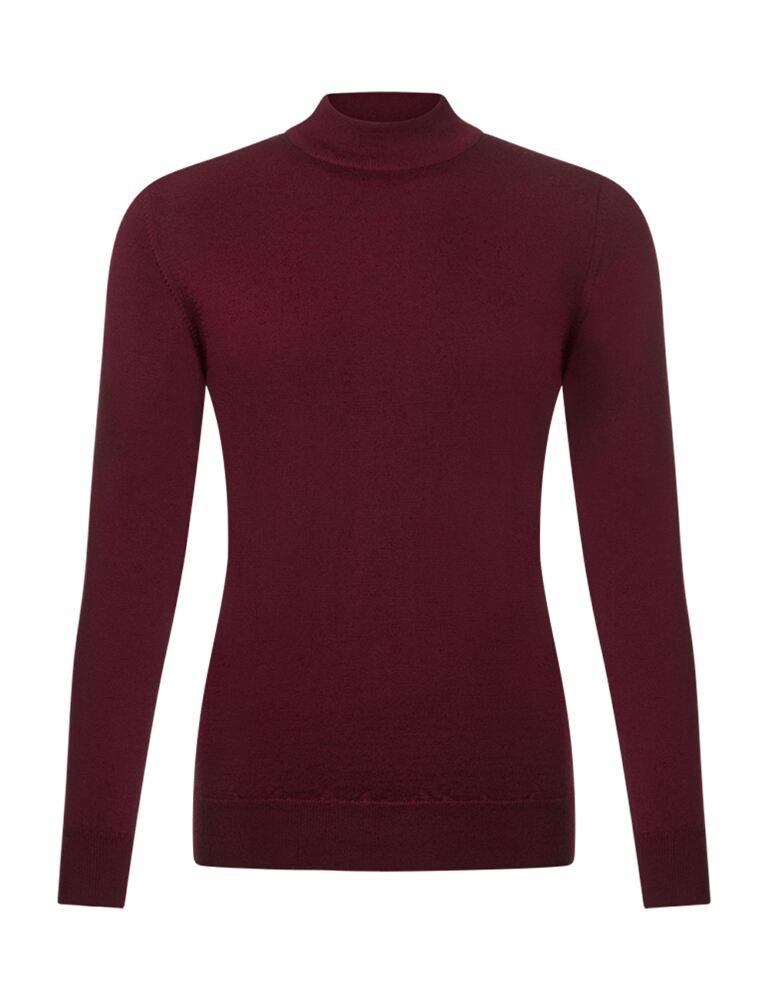 Ladies Great & British Knitwear 100% Merino Mock Turtle Neck Jumper