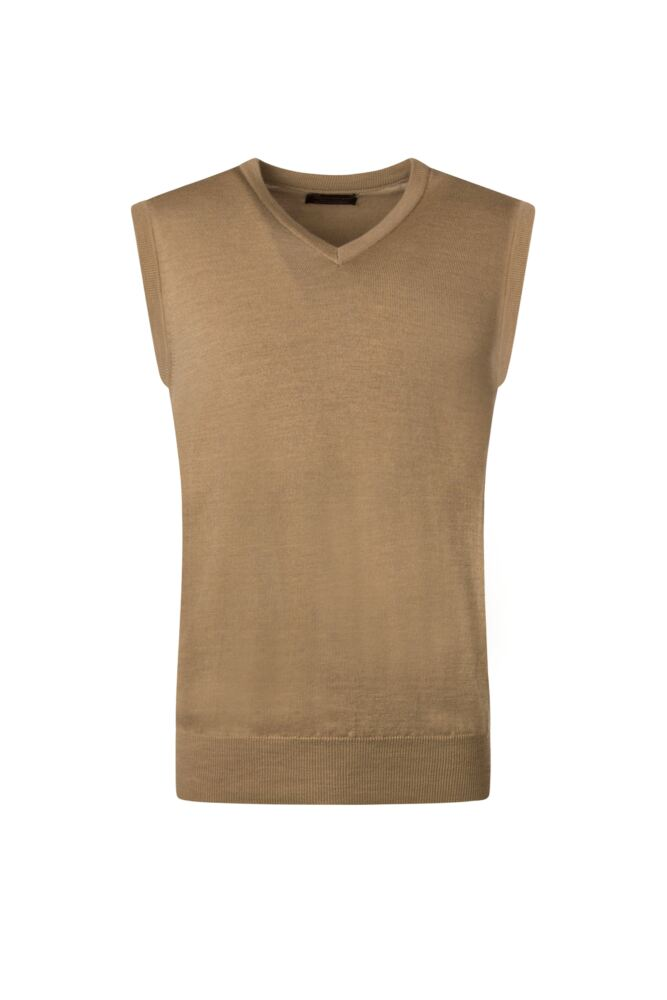 Mens Great & British Knitwear 100% Merino Plain V Neck Slipover