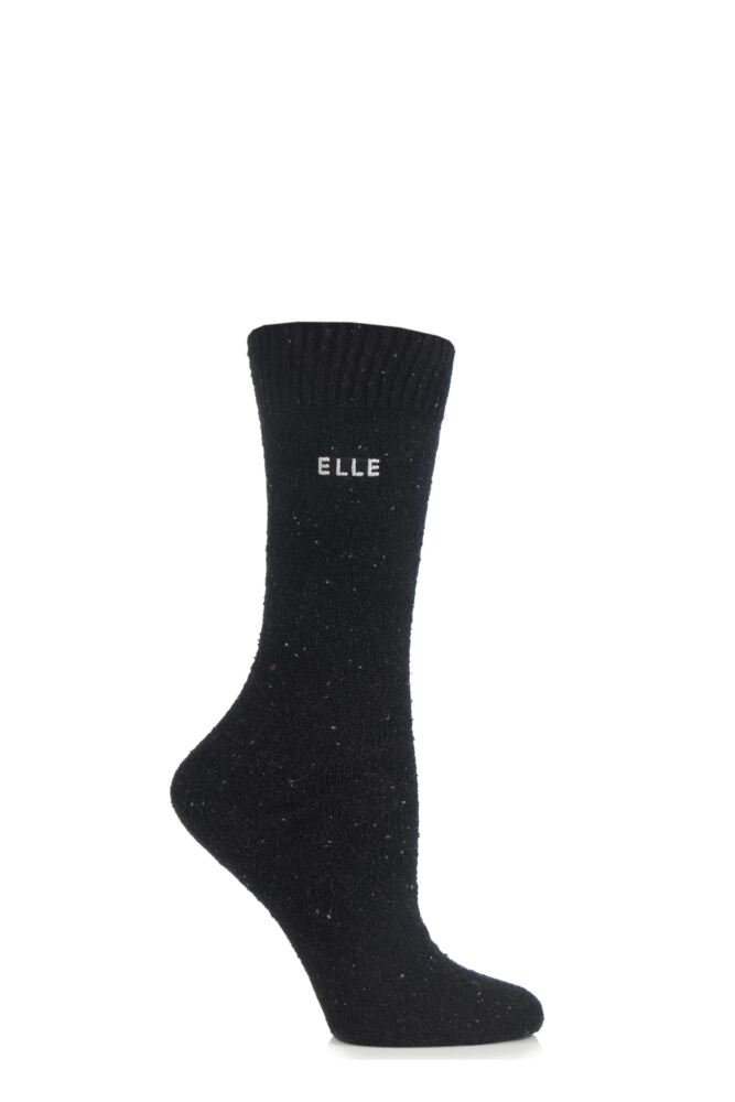 Ladies 1 Pair Elle Tweed Style Boot Socks