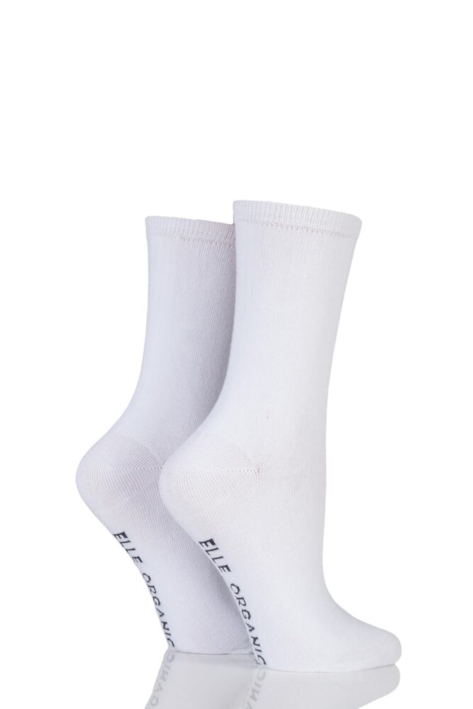 Ladies 2 Pair Elle Organic Cotton Socks