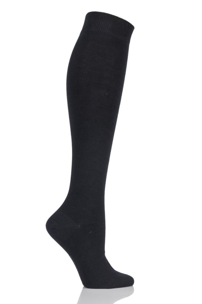 Ladies 1 Pair Elle Organic Cotton Knee High Socks