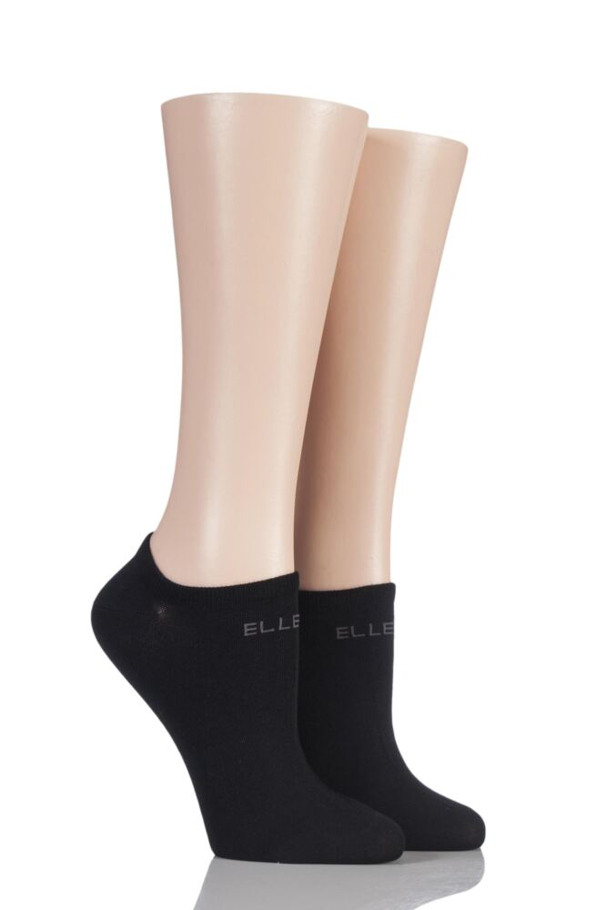 Plain No Show Socks - Black