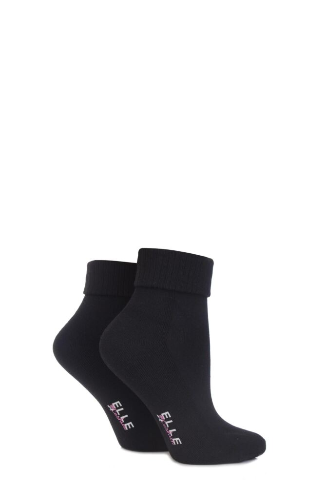 Ankle Socks With Cushion Sole - Black