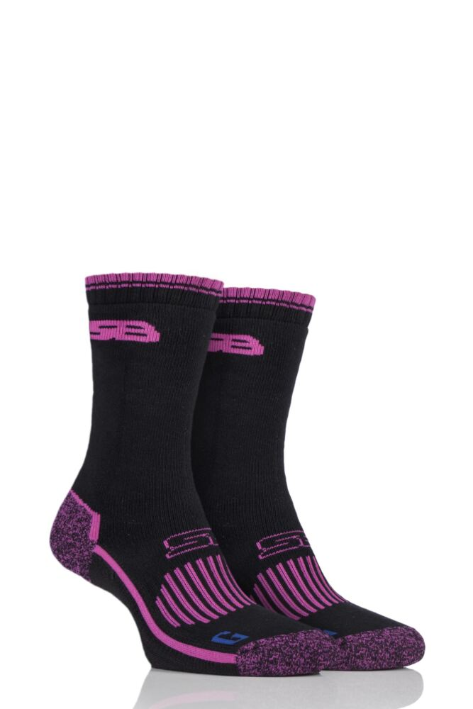 Ladies 2 Pair Storm Bloc with BlueGuard Hiking Socks