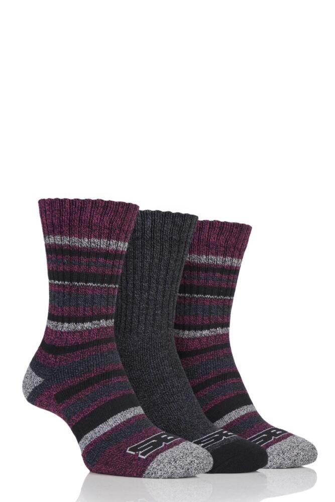Ladies 3 Pair Storm Bloc Ribbed Performance Boot Socks