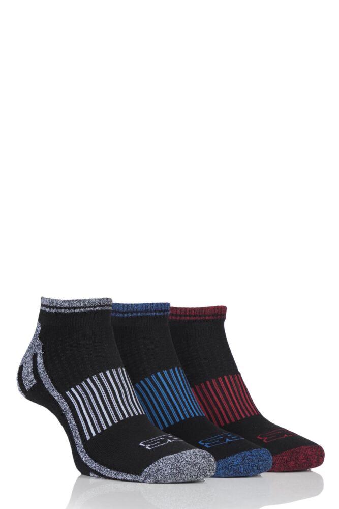 Mens 3 Pair Storm Bloc Trainer Socks