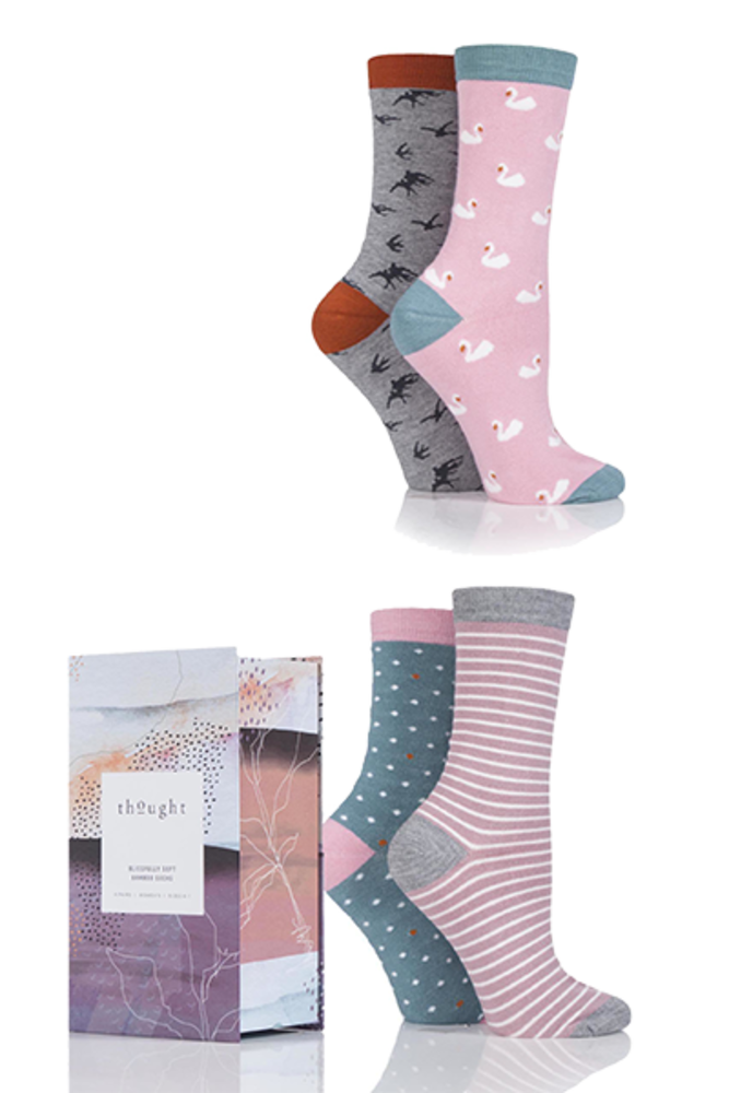 Thought Birds Bamboo Socks In Gift Box