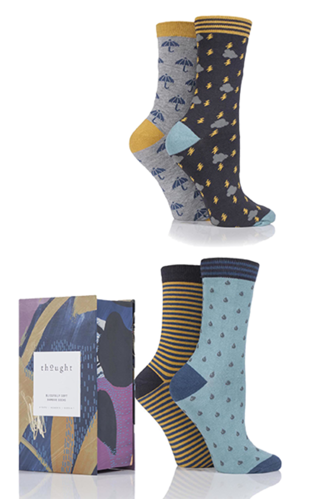 Thought Storm Bamboo Socks In Gift Box