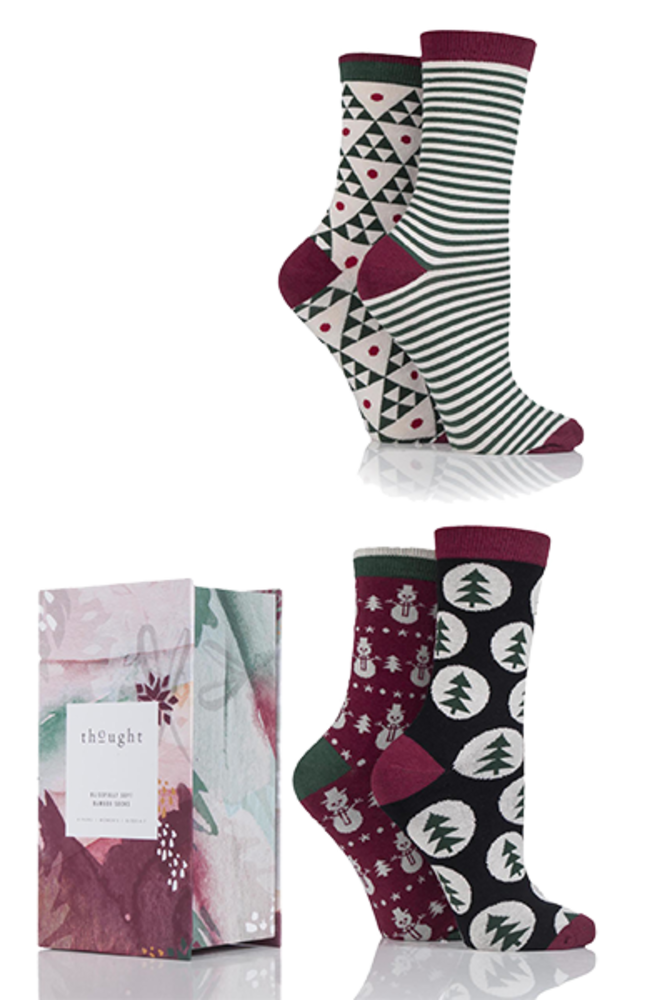 Thought Scandi Christmas Bamboo Socks In Gift Box