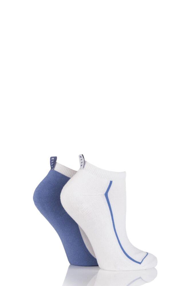 Ladies 2 Pair Elle Cushion Foot Trainer Socks With Liner Tag