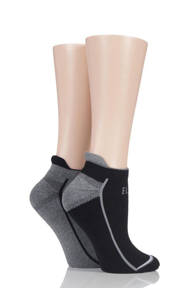 Ladies 2 Pair Elle Sports Trainer Socks