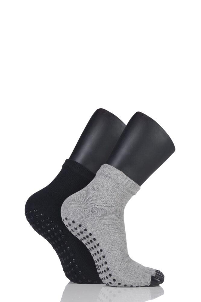 Ladies 2 Pair Elle Sport Toeless Yoga Socks