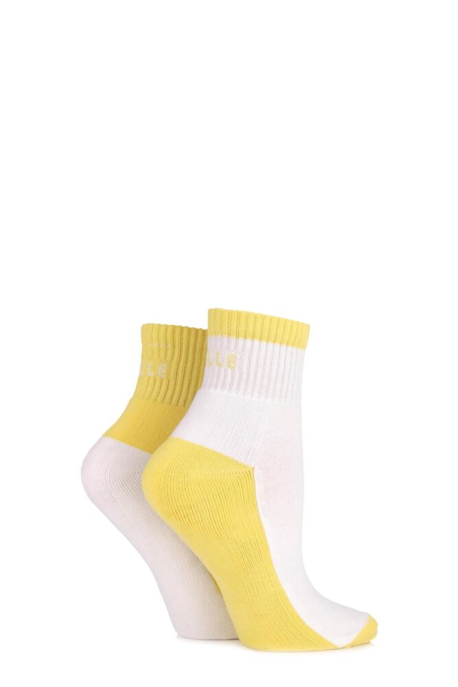 Ladies 2 Pair Elle Sports Ankle Socks