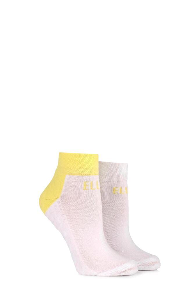 Ladies 2 Pair Elle Sports Cushioned Ankle Socks