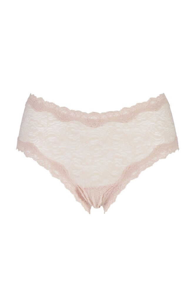 Ladies 1 Pair Kinky Knickers Oyster Handmade In The UK Scalloped Lace Trim Knickers