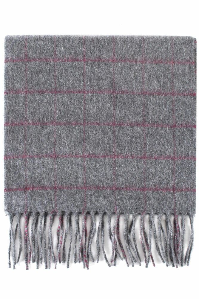 Mens and Ladies SockShop of London Made In Scotland Check 100% Cashmere Scarf