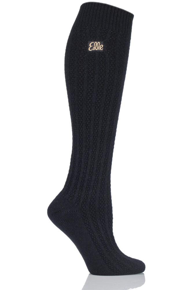 Ladies 1 Pair Elle Cable Knit Knee High Socks