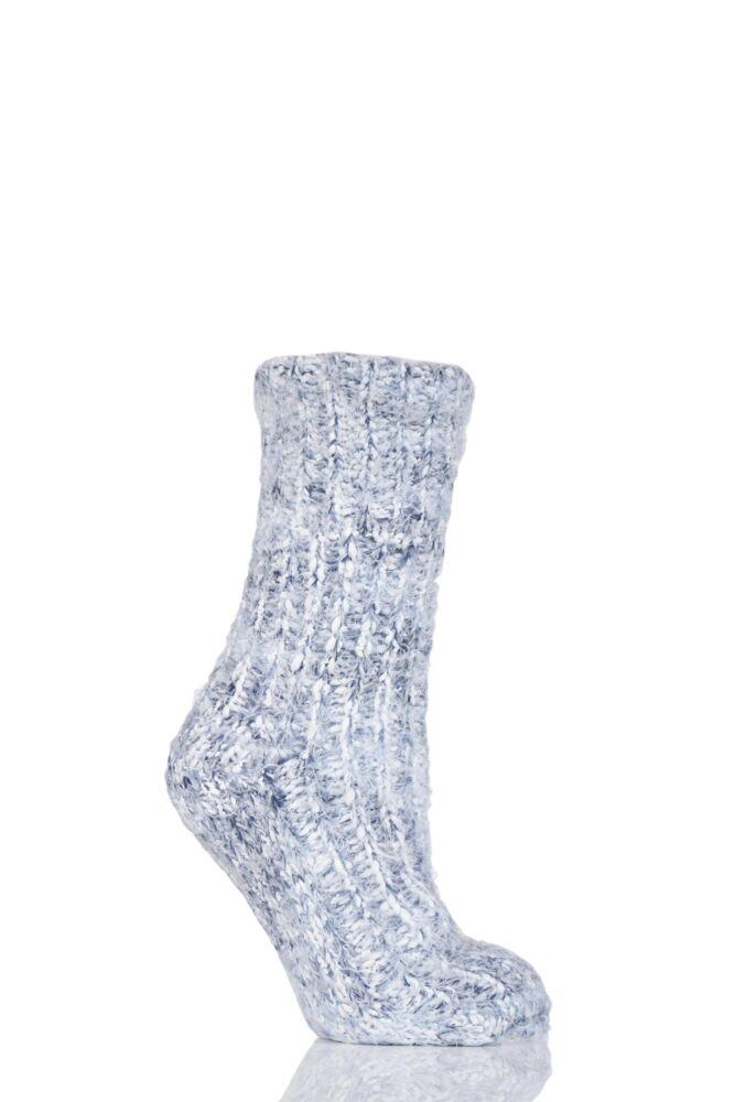 Ladies 1 Pair Elle Feather Bootie Socks With Grip
