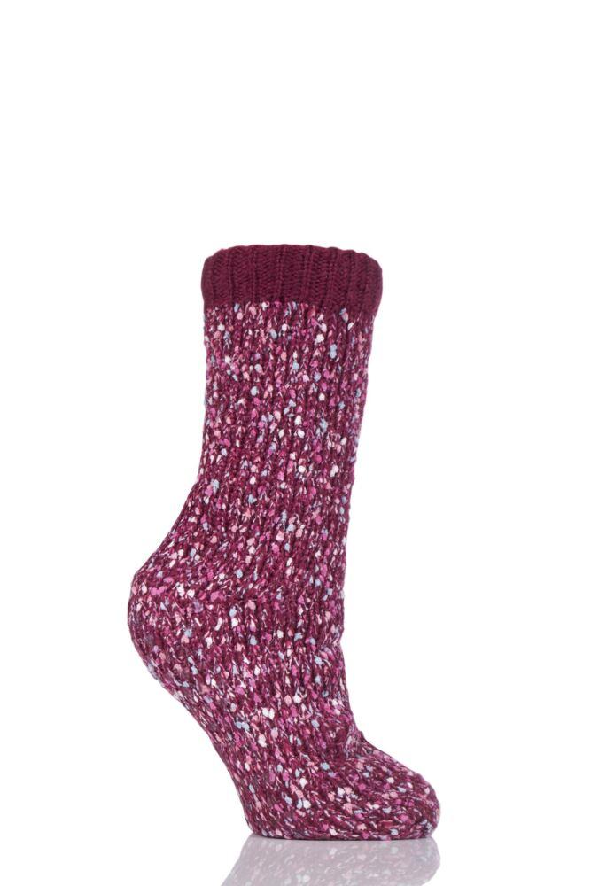 Ladies 1 Pair Elle Slubby Bootie Socks with Grip