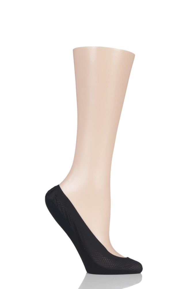 Ladies 1 Pair Elle Pin Dot Shoe Liner Socks