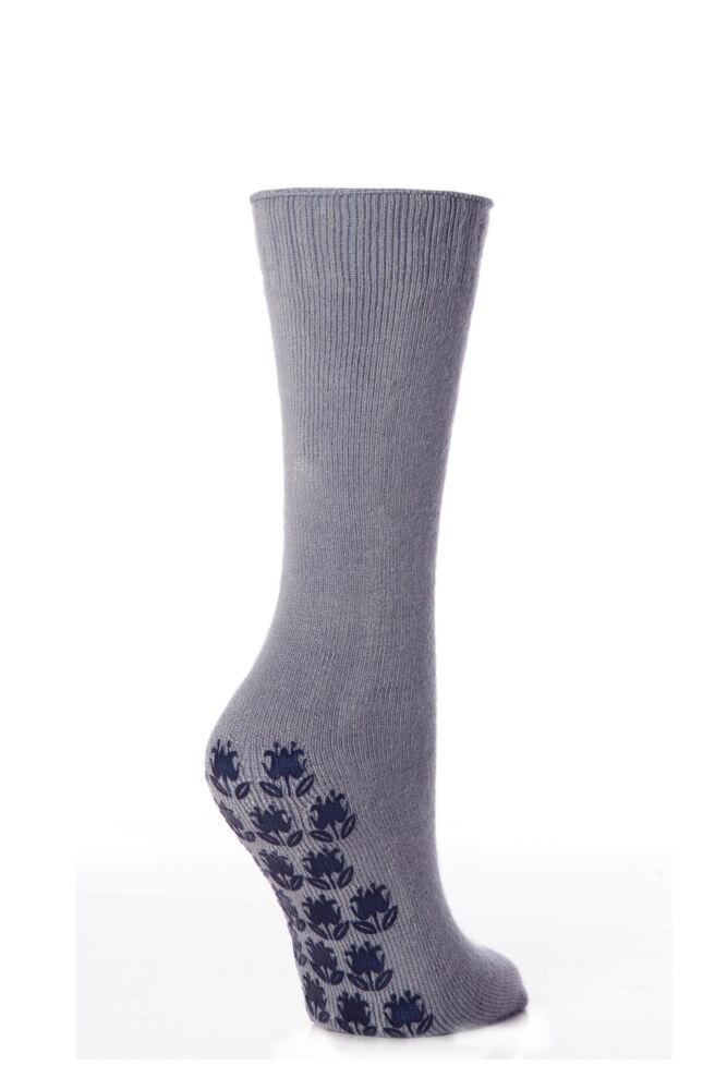 Ladies 1 Pair Elle Supersoft Home Socks with Non-Slip Sole