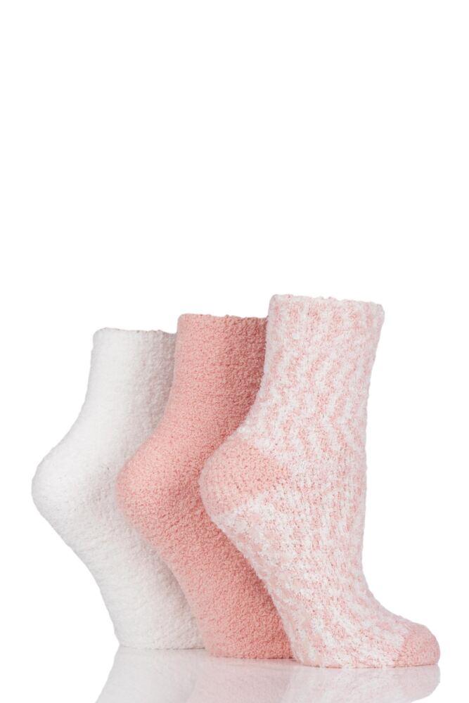 Ladies 3 Pair Elle Cosy Bed and Slipper Socks