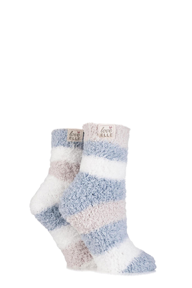 Elle Fluffy and Cosy Blissful Bed Time Socks Downy