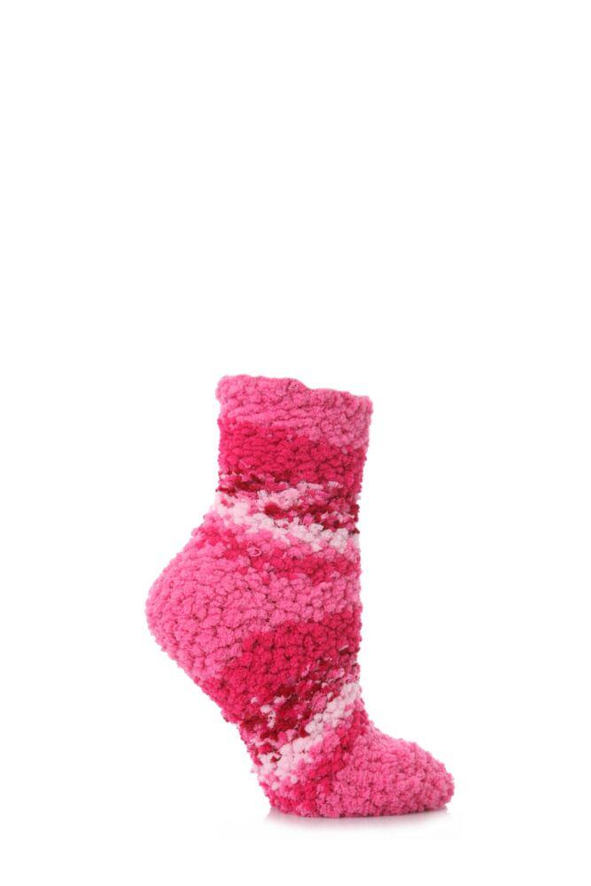 Ladies 1 Pair Elle Soft and Cosy Popcorn Leisure Socks