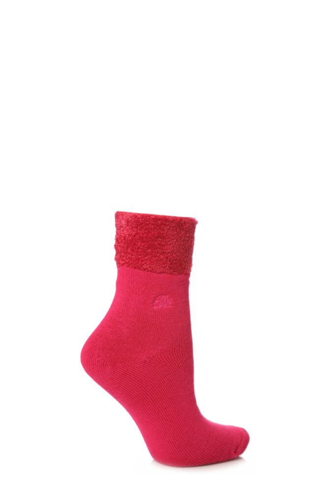 Ladies 1 Pair Elle Bamboo Feather Bed Sock