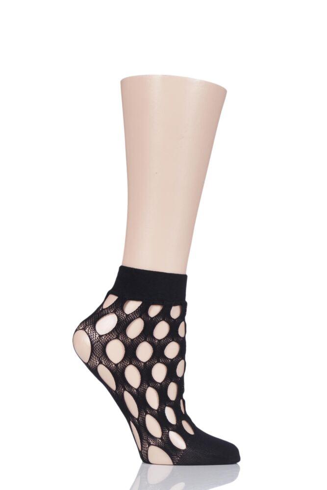 Ladies 1 Pair Elle Fishnet and Fashion Anklet Socks