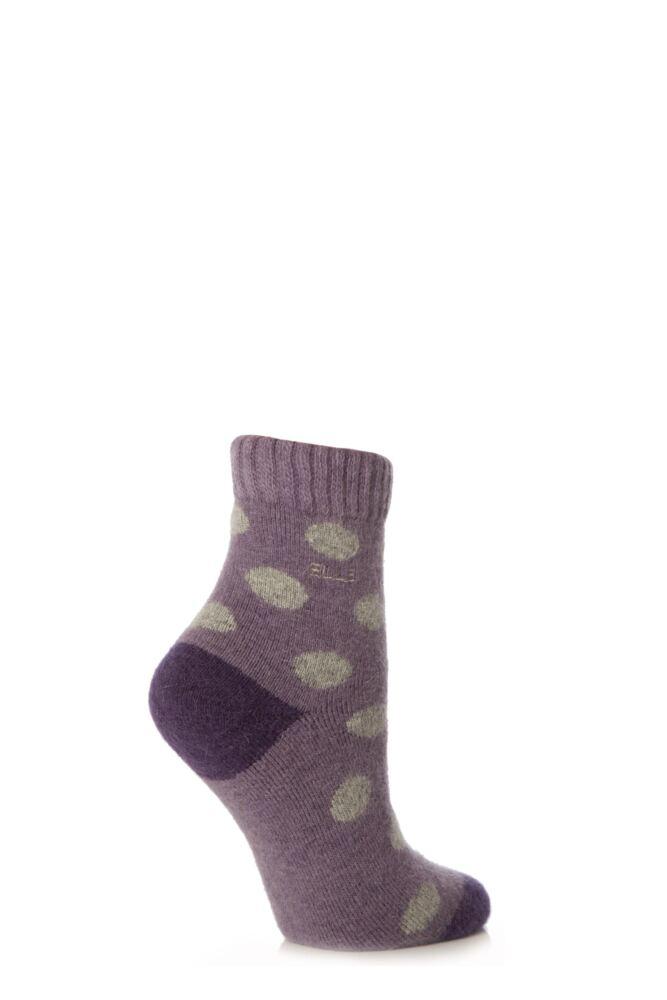 Ladies 1 Pair Elle Dotty Angora Bed Socks