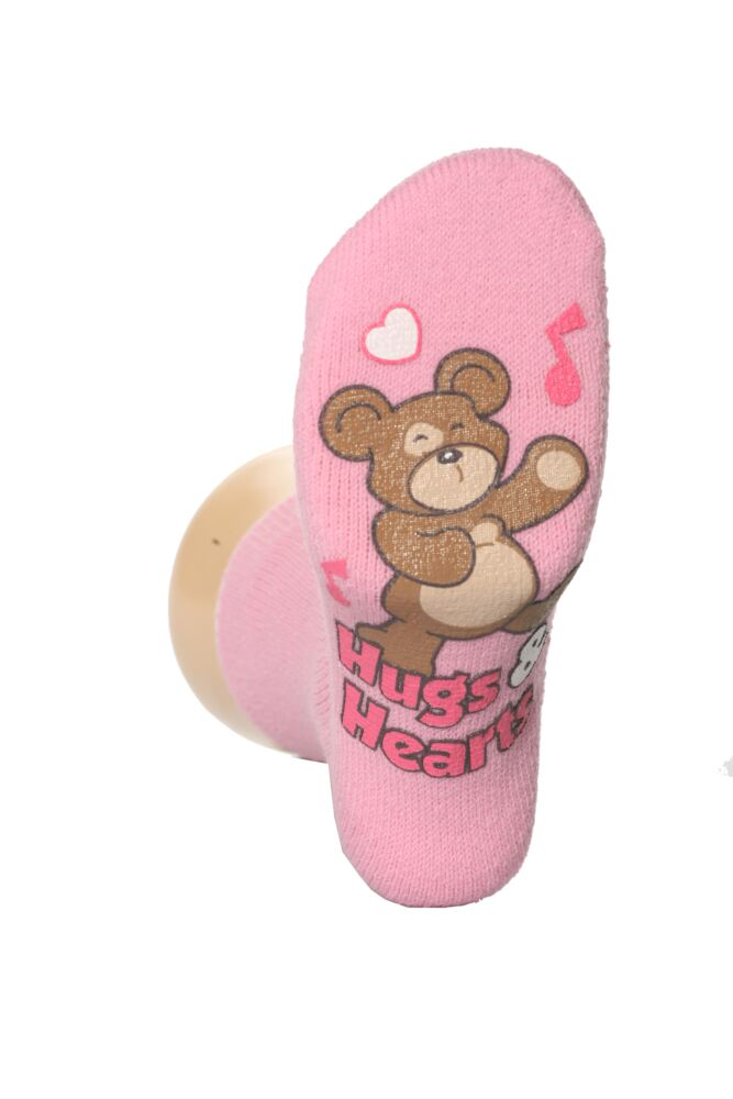 Girls 1 Pair Drew Brady Hugs and Hearts Gripper Socks In 3 Colours