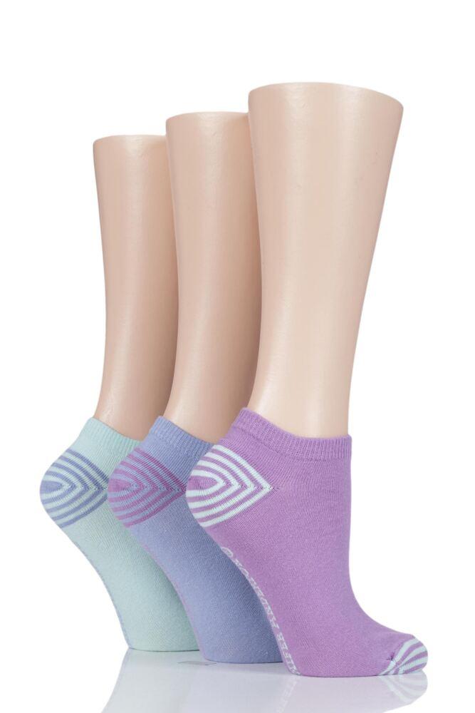 Ladies 3 Pair Jennifer Anderton Plain Cotton Trainer Socks