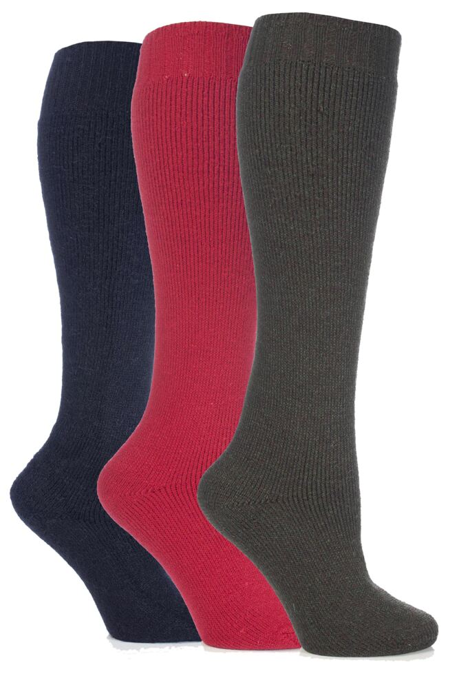 Ladies 3 Pair Outstanding Value Wellington Boot Socks