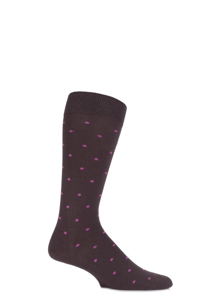Mens 1 Pair J. Alex Swift Spotty Fine Cotton Socks