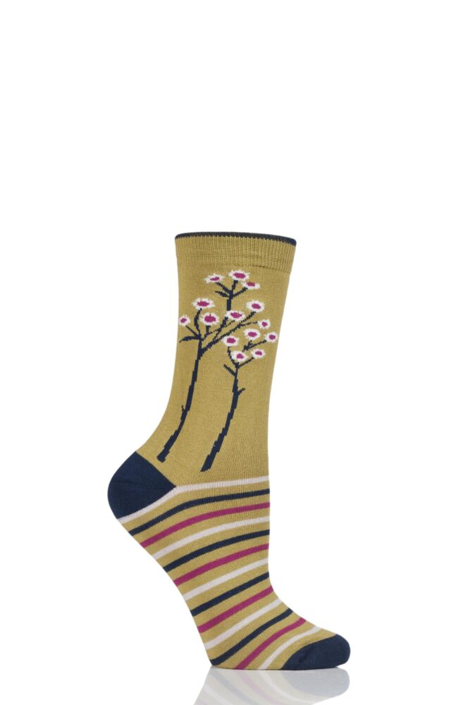 Ladies 1 Pair Thought Olivia Trees Bamboo and Organic Cotton Socks