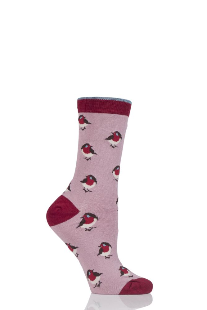 Ladies 1 Pair Thought Robin Bamboo and Organic Cotton Socks