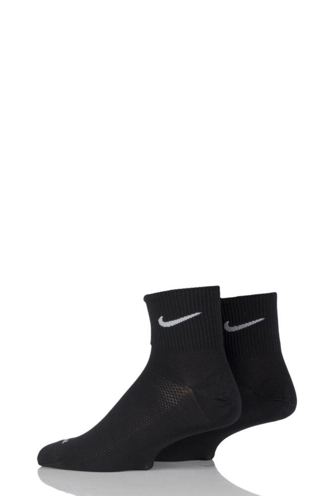 Mens and Ladies 2 Pair Nike Run Lightweight Running Socks 25% OFF