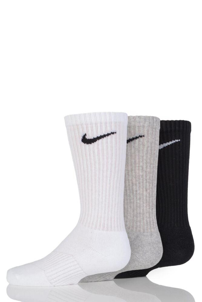Kids 3 Pair Nike Cushioned Sport Crew Socks