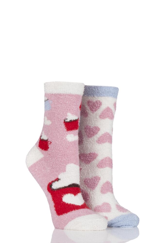 Ladies 2 Pair SockShop Snugsoles Bed Socks
