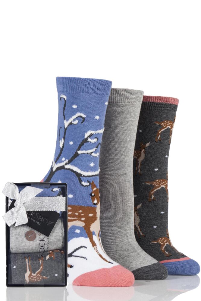 Ladies 3 Pair SockShop Wild Feet Gift Boxes
