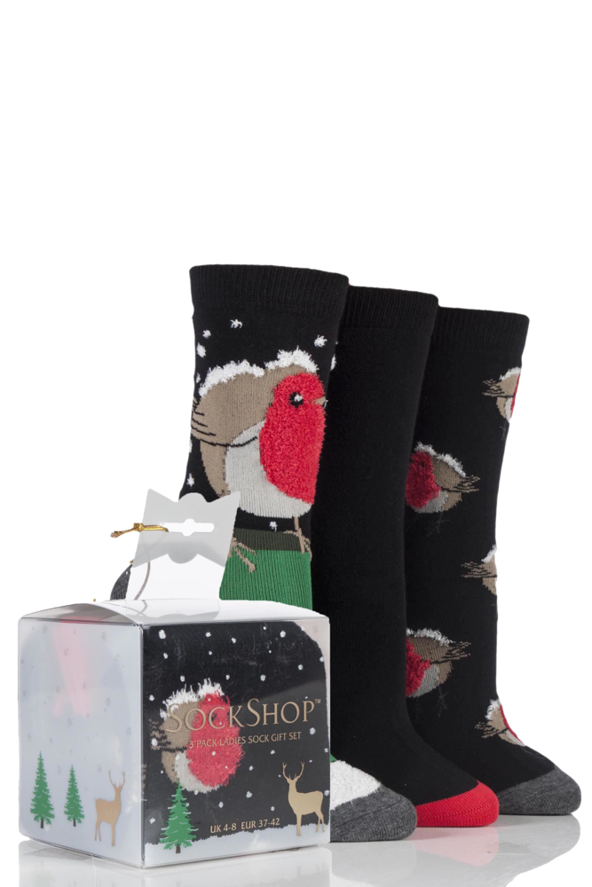 SockShop Just For Fun Robin Cotton Socks In Gift Box