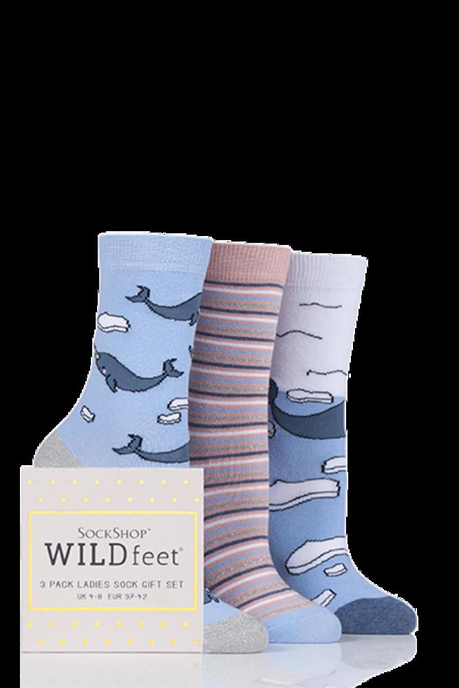 SockShop Wild Feet Narwhal Cotton Socks In Gift Box
