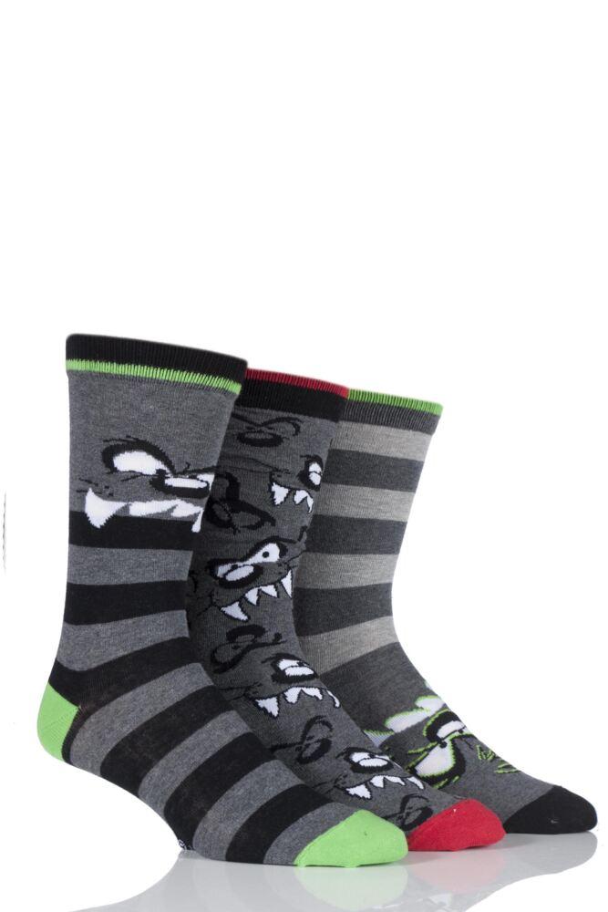 Mens 3 Pair SockShop Taz Socks