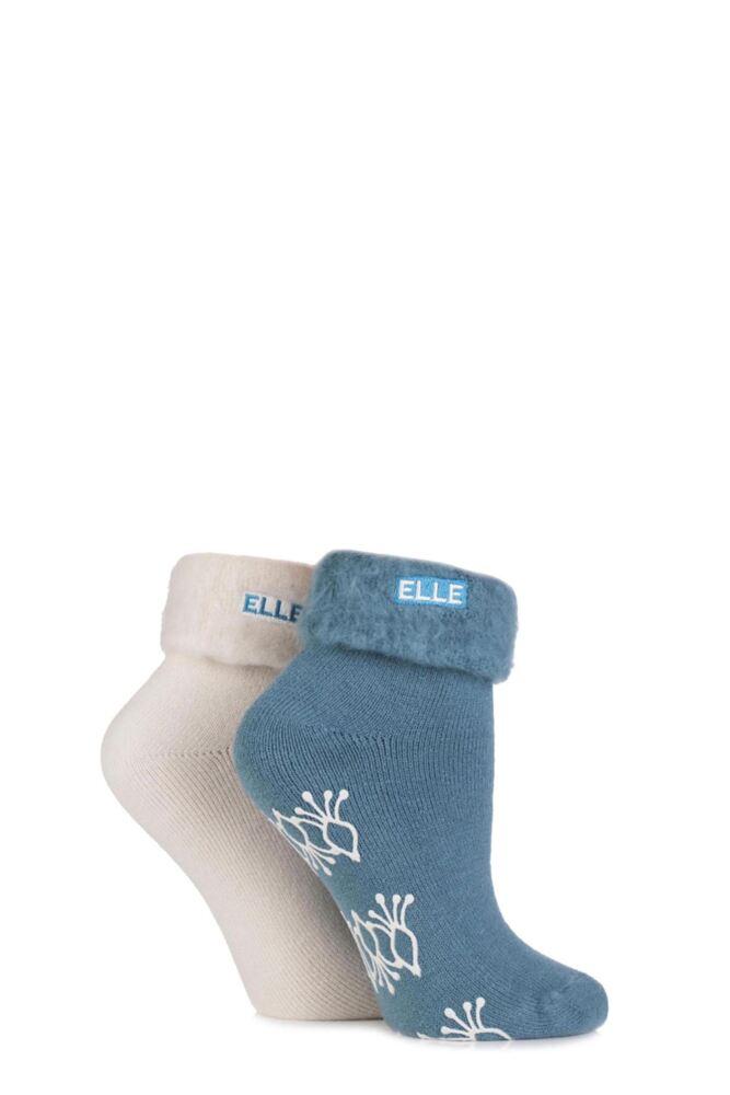 Ladies 2 Pair Elle Thermal Bed and Slipper Socks