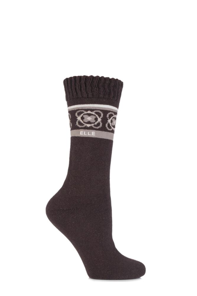 Ladies 1 Pair Elle Wool Blend Winter Boot Socks