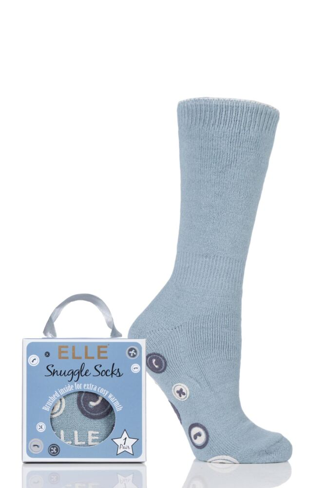 Ladies 1 Pair Elle Gift Boxed Cashmere-Like Slipper Socks
